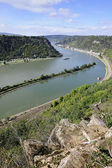 Rhine River, view from St Goarshausen — Stock Photo