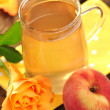 Foto Stock: Peach tea
