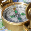 Foto Stock: Compass And Map