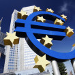 Euro Sign At EZB — Stock Photo
