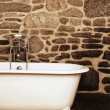 Stock Photo: Vintage Bathroom With Oldfashioned Clawfoot Bathtub