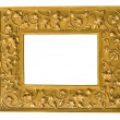 Golden picture frame isolated — ストック写真