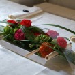 Ikebana - floral bouquet table decoration — Foto Stock