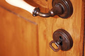 Keyhole and Key — Stock Photo