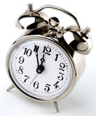 Vintage Alarm Clock, it's 5 to 12 — Stock Photo