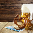 Stock Photo: Beer and Pretzel, Oktoberfest