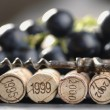 Corks and corkscrew — Stock Photo