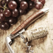 Cork and corkscrew — Stock Photo