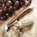 Cork and corkscrew — Stock Photo