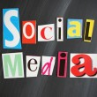 SOCIAL MEDIA letters on Chalkboard — Stock Photo