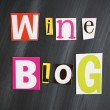 "Stock Photo: ""WINE BLOG"" letters on Chalkboard"