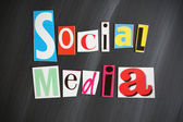 """SOCIAL MEDIA"" letters on Chalkboard — Stock Photo"