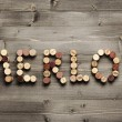 "Stock Photo: ""MERLOT"" written with corks"