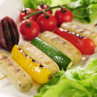 Grilled vegetables and Wuerstchen — Lizenzfreies Foto