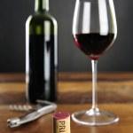 Priorat Cork and red Wine — Stock Photo