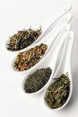 Different sorts of green tea — Stock Photo