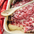 Stock Photo: Red Currant Quark Cake