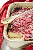 Red Currant Quark Cake — Stock Photo