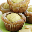 Apple and White Chocolate Muffins — Stock Photo