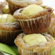 Apple and White Chocolate Muffins — 图库照片