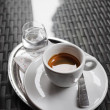 Stock Photo: Espresso Coffee and Water