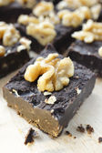 Homemade Walnut Fudge Nougats — Stock Photo