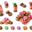 Set of colorfull sweets isolated on white background — Stock Photo #19011745