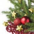 Stock Photo: Christmas tree isolated on white background