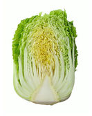 Chinese cabbage isolated on white background — Stock Photo