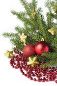 Weihnachtsbaum auf weißem hintergrund — Stockfoto
