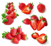 Strawberry set isolated on white — Foto de Stock