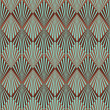 Royalty-Free Stock Photo: Art Deco style seamless pattern texture