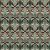 Art deco tarzı dikişsiz desen doku — Stok fotoğraf