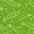 Royalty-Free Stock Photo: Green peas seamless pattern