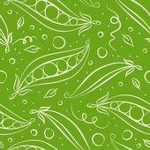 Green peas seamless pattern — Stock Photo