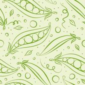 Green peas seamless pattern — Stock Photo