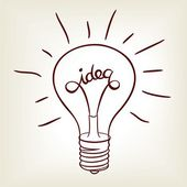Idea bulb — Stock Photo