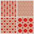Heart pattern set for Valentine's day — Stock Vector