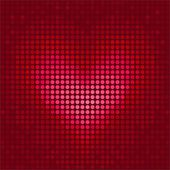 Pixel heart illustration for Valentine's Day — Vecteur