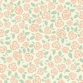 Retro pattern with roses — Stock Vector