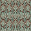 Art Deco style seamless pattern texture — Vector de stock