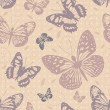 Seamless pattern with butterflies — Stock Vector #27791221