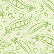 Green peas background — Vettoriali Stock