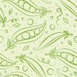 Green peas background — Vector de stock