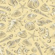 Sea shells pattern — Stock Vector