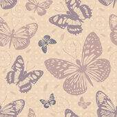 Seamless pattern with butterflies — Stock Vector