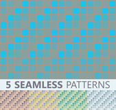 Seamless patterns in different colors — Stock Vector