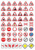 Set of glossy road signs — Stock Vector