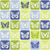 Butterflies seamless pattern — Stock Vector