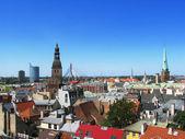 Riga roofs — Stockfoto
